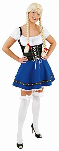Fancy Me Signore Tradizionale Festival della Birra Tedesca Oktoberfest Bavarese Taverna Donzella Costume Vestito UK8-16 EU 36-44 - UK 12 (EU 40)