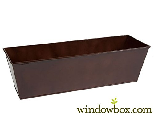 - 30in. Galvanized Tapered Window Box - Oil Rubbed Bronze Powder Coat Finish