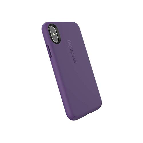 Speck Products CandyShell Fit iPhone Xs/iPhone X Case, Pennant Purple/Pennant Purple