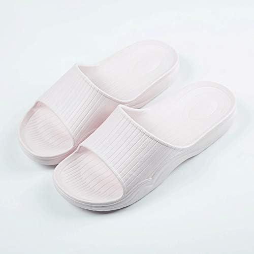 LiXiZhong スリッパ女性の夏の浴室のカップル屋内ホームソフト底滑り止め入浴靴ホームスリッパ (色 : Pink, サイズ さいず : 40)