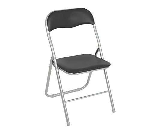 2008AN0816 Set 2 sedie pieghevoli GRIGIE ass. Madrid imbottita base metallo. MEDIA WAVE store ®
