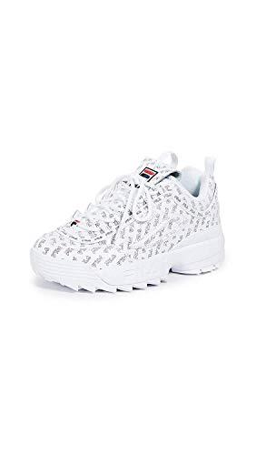 - Fila Women's Disruptor II Multi Sneakers, White Navy Red, 10 M US