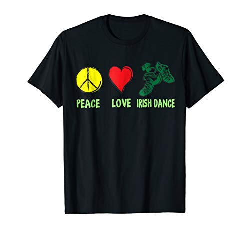 Irish Peace Love Irish Dance T-shirt Patrick's Day]()