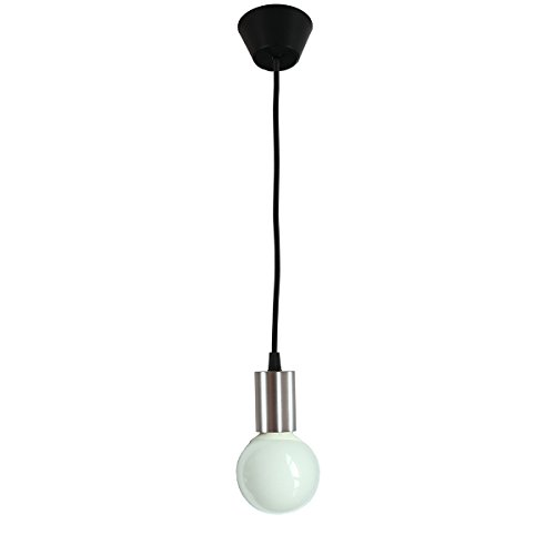 Geyang 1-Light Adjustable Stainless Steel Modern Mini Pendant Light Fixture E27 Base Nickel Finish GY-E27-JY-CHROME - Brushed Nickel Mini Dome Pendant