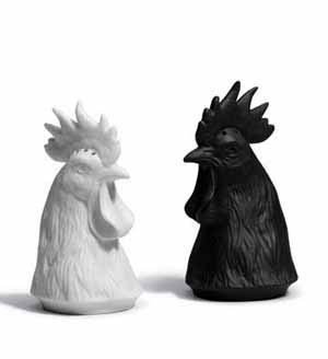 GALLUS SALT AND PEPPER SHAKERS Lladro Porcelain by Lladro Porcelain