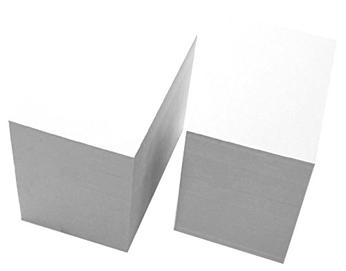 Debra Dale Designs - Blank Unruled Index Cards - White - 500 Cards - Super Thick Extra Heavy 200# Index Tag Card Stock - 326 GSM