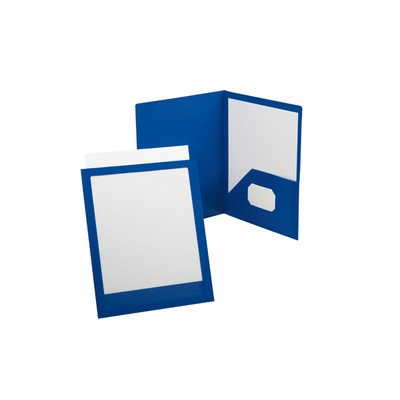 Oxford ViewFolio Poly Twin-Pocket Folders [Set of 2] Color: White / Clear