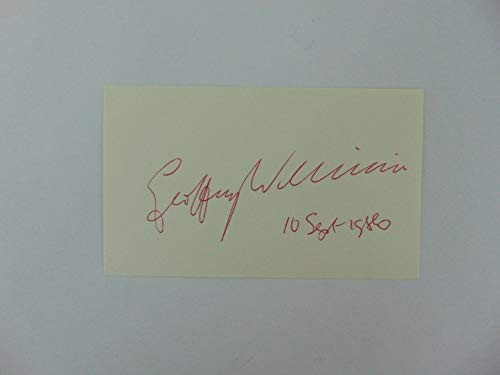 """Nobel Prize in Chemistry"" Geoffrey Wilkinson Signed 3X5 Card Todd Mueller COA from Unknown"
