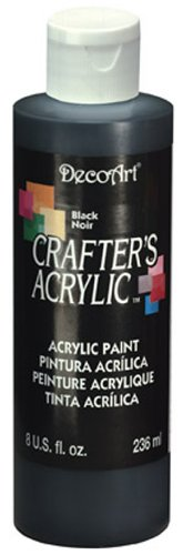 DecoArt DCA47-9 Crafters Acrylic, 8-Ounce, Black