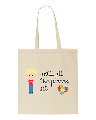 Natural Autism With The Bag All Tote Pieces Character B2 Awareness Fit Hair Boy Until Blonde U6xzx