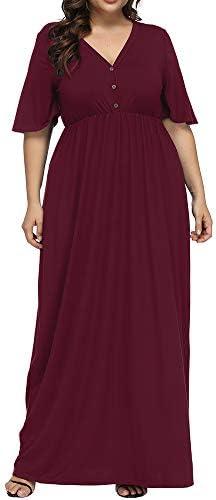 Allegrace Womens Button Sleeve Dresses