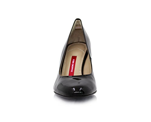 negro mujer de Diamond vestir Zapatos de charol Heels Negro para ZxH0z