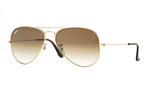 Ray-Ban 3025 Aviator RB 3025 001/51 55mm Gold Frame Brown Gradient 55mm Small (Ray-ban 3025 55)