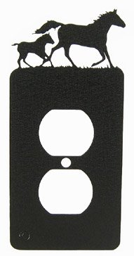 Mare & Foal Horse Power Outlet Plate Cover
