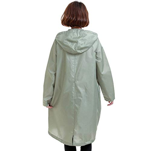 Asakusa En Fermeture Portable Light Fashion Adulte Raincoat Trench Coat À Glissière Fille Plein Classique Green Avec Ms Poncho Laisla Air Et Leisure Qff q1wZZv4