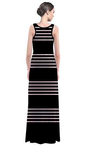 cowcow vestido de mujer Multicolor Negro y Blanco Black Chunky White Thin