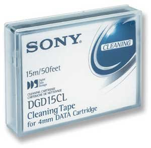 Sony DDS / DAT-72 4mm Cleaning Tape, Part # DG15CL For DDS-1, DDS-2, DDS-3, DDS-4 and DDS-5/ DAT-72 Drives by Sony
