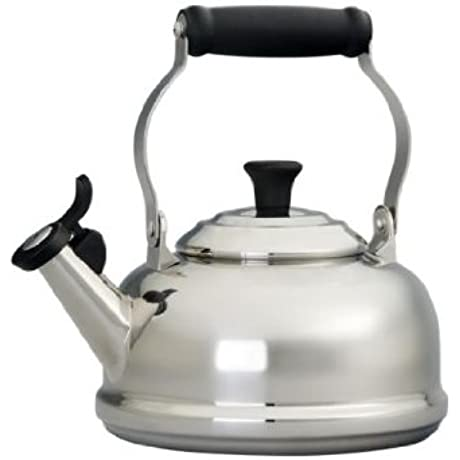 Le Creuset 1 75 Quart Stainless Steel Whistling Tea Kettle