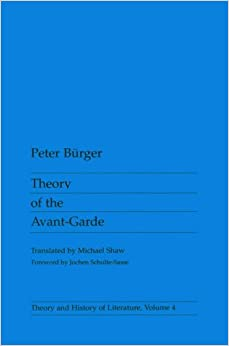 Theory Of The Avant-Garde (Theory And History Of Literature) Downloads Torrent