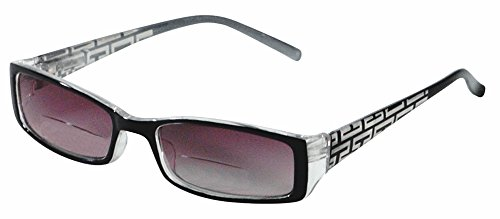 Rodeo i6 Slim Casual Work Style Bi Focal Sun Reader Sunglasses (Slate, 3.00) (Rodeo Slim)