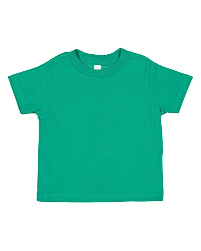 (Rabbit Skins 100% Cotton Toddler Fine Jersey T Shirt- Over 30 Colors Offered by Little Cutie Boutique)