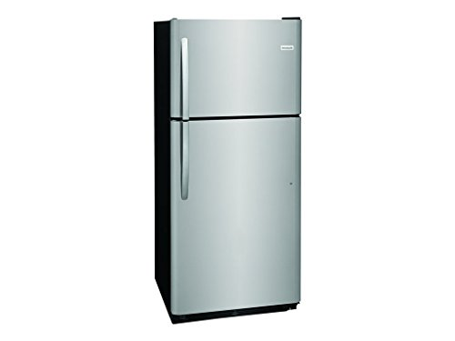 Frigidaire FFTR2021TS 30 Inch Freestanding Top Freezer Refrigerator with 20 cu. ft. Total Capacity, 2 Glass Shelves, 5.1 cu. ft. Freezer Capacity, in Stainless Steel ()