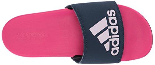 Adidas Kvinna Adilette Komfort Slide Sandal, Svart / Vit / Svart, 11 M Oss Chock Rosa / Kollegialt Marinblå / Aero Rosa