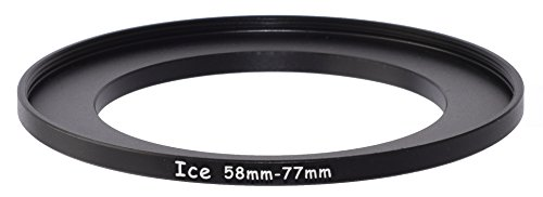 ICE 58mm to 77mm Step Up Ring Filter / Lens Adapter 58 male 77 female Stepping (B W Step Up Ring)