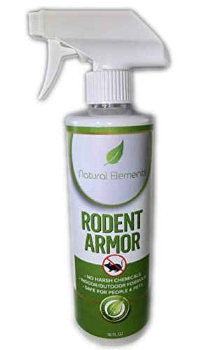 Natural Elements Rodent Armor- Peppermint Oil Mouse Repellent Spray- Vehicle, Boat, RV, Tractor, Equipment Spray - All Natural - Child and Pet Safe - Indoor/Outdoor Spray - 16 oz