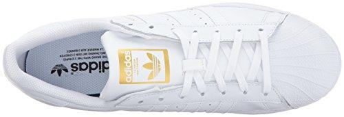 Adidas Heren Superster Wit / Metallic Goud / Gom