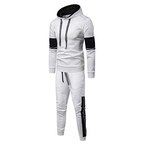 2019 Newest Jogger Set for Men Tracksuits Casual Crewneck Long Sleeve Full Zip Hoodie Sweatshirt+Joggers Pant Sportsuit
