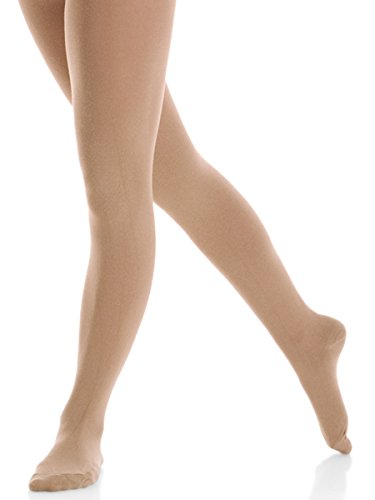 Mondor Practice Matte Finish Footed Tights 3395 (NOT RETURNABLE IF OPENED) (Adult Medium, Suntan)