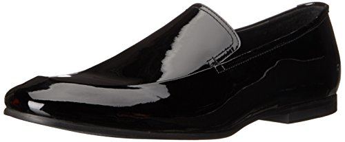 Calvin Klein Men's Nicco Patent Slip-On Loafer, Black, 9 M US by Calvin Klein