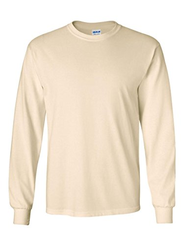 - Gildan G240 Ultra Cotton® 6 oz. Long-Sleeve T-Shirt - NATURAL - XL