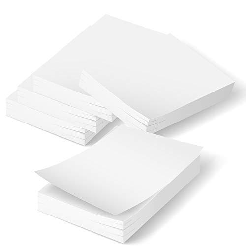 500 Notepads - 5 Memo Scratch Writing Note Pads, 100 Sheet, 4x6 Small Blank Paper List notepads