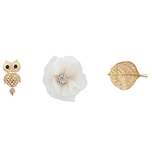Lux Accessories Goldtone Owls Pin Set (3PC) from Lux Accessories