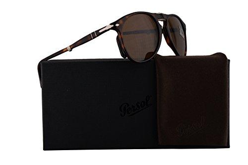 Persol PO9714S Sunglasses Havana w/Brown Lens 52mm 2433 PO9714-S 9714S PO 9714-S (Persol 9714)