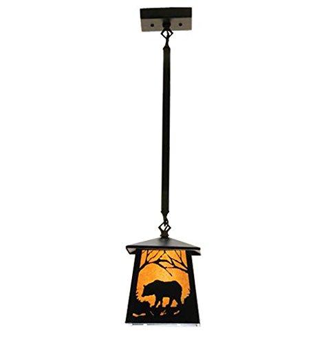 - Meyda Tiffany 15742 Bear At Dawn Mini Pendant, 7 sq. in.