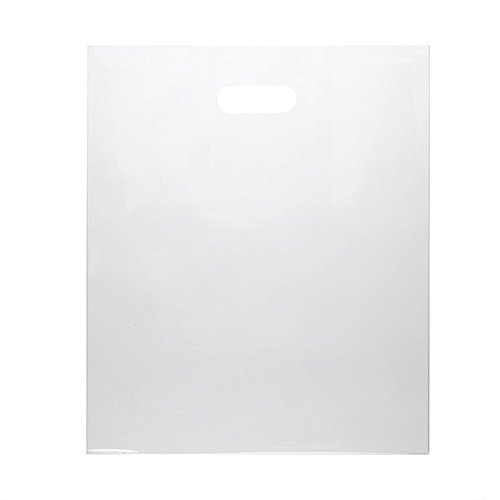 Frosted Die Cut Merchandise Bag (ClearBags 15 X 18 LDPE Clear Handle Bag | Merchandise Bags With Die Cut Handles | Strong and Tear Resistant | For Trade Shows, Retail, and Shopping | NFL Stadium Approved | H1518C1B (Pack of 500))