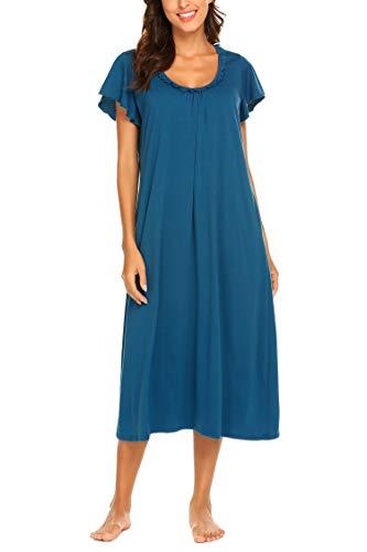 (Ekouaer Women's Cotton Fleece Hooded One Piece Pajama Union Jumpsuit)