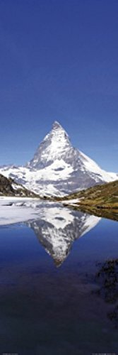 Posters: Mountains Poster Art Print - Mount Matterhorn And Lake Riffelsee