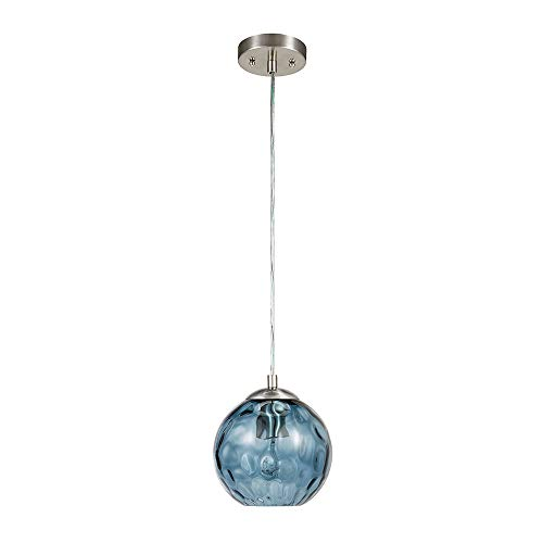 Catalina Lighting 22158-000 Contemporary Small Hammered Glass Mini Pendant Ceiling Light, 69