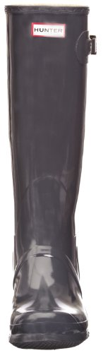 Gris Botas de para Original Tall Mujer Hunter Graphite Agua Gloss wI68tnnqf