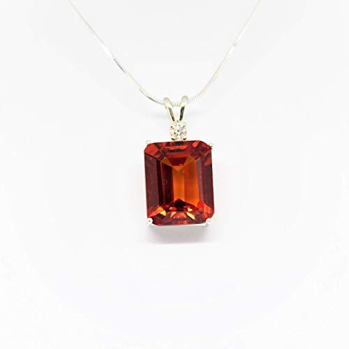 (Orange Songea Sapphire Pendant)