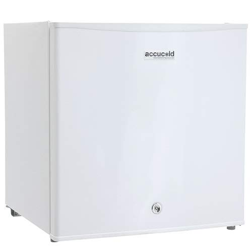 Summit AccuCold FS24L 19″ Upright Freezer with 1.4 cu. ft. Capacity, Factory Installed Lock, Manual Defrost, Removable Shelf Removable Shelf and Adjustable Thermostat, in White