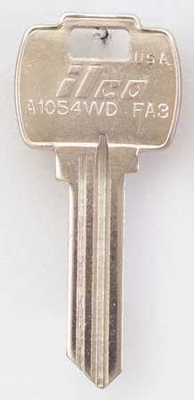 - Key Blank, Brass, Type FA3, 6 Pin, PK10