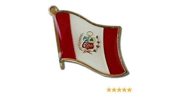 PERU Country Metal Flag Lapel Pin Badge