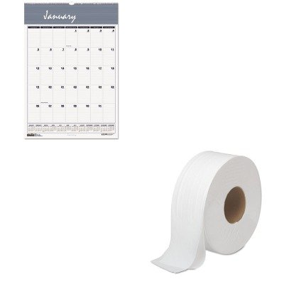 KITBWK6100HOD333 - Value Kit - House Of Doolittle Bar Harbor Wirebound Monthly Wall Calendar (HOD333) and Boardwalk 6100 Jumbo Roll Bathroom Tissue (BWK6100) - Harbor Tissue