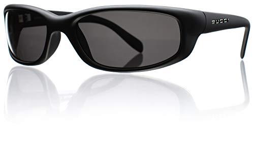 Bucci Sunglasses Barracuda Black Matte Polycarbonate Polarized (Grey Polarized Polycarbonate)