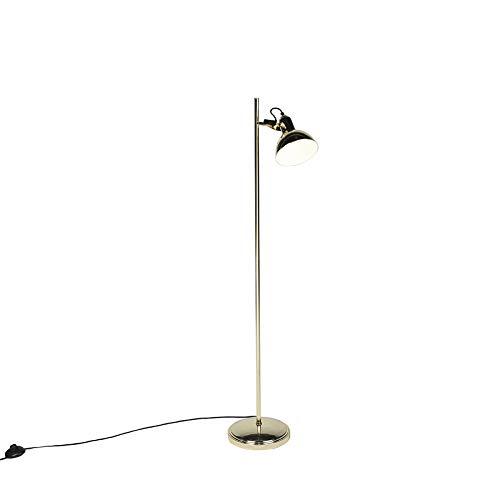 QAZQA Industrial Lámpara de pie industrial oro 1-luz - TOMMY ...